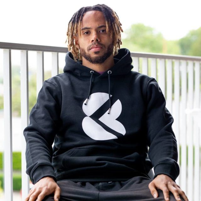 """When certain values that we defend, such as courage and discipline, are also found to be in football, then this kind of collaboration occurs quite naturally. ⚽️  @theo_bongonda Hoodie """"Universal Black"""" Available on our website 🌐 Kick8.com #markyourtime #streetwear #wearekick8 #kick8sports #football #belgium 🇧🇪"""